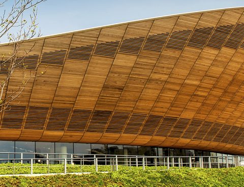 Olympic Velodrome Western Red Cedar Cladding andrewgoto timberbossman London